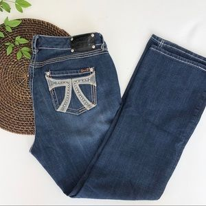 Seven7 Jeans Denim Bootcut Blue Bling Plus 16